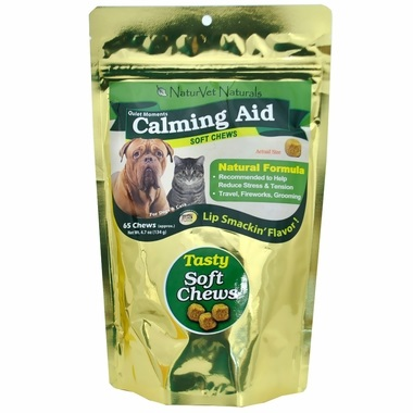 Calming Aid Soft Chews for Dogs by NaturVet Naturals 4.7 oz